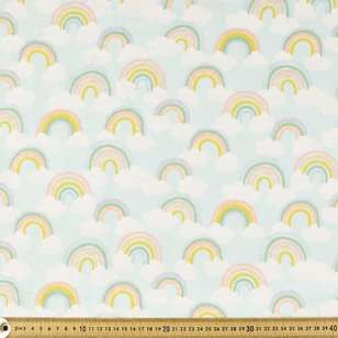 Rainbows Printed 112 cm Flannelette Fabric