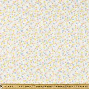 Stars Printed 112 cm Flannelette Fabric