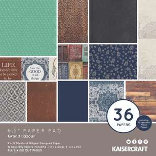 Kaisercraft Grand Bazaar 6.5 in Paper Pad