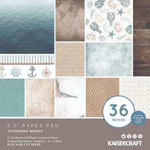 "Kaisercraft Uncharted Waters 6.5"" Paper Pad"