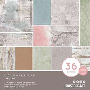 Kaisercraft Lady Like 6.5 in Paper Pad
