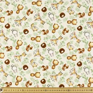 Woodland Tykes Printed 112 cm Flannelette Fabric