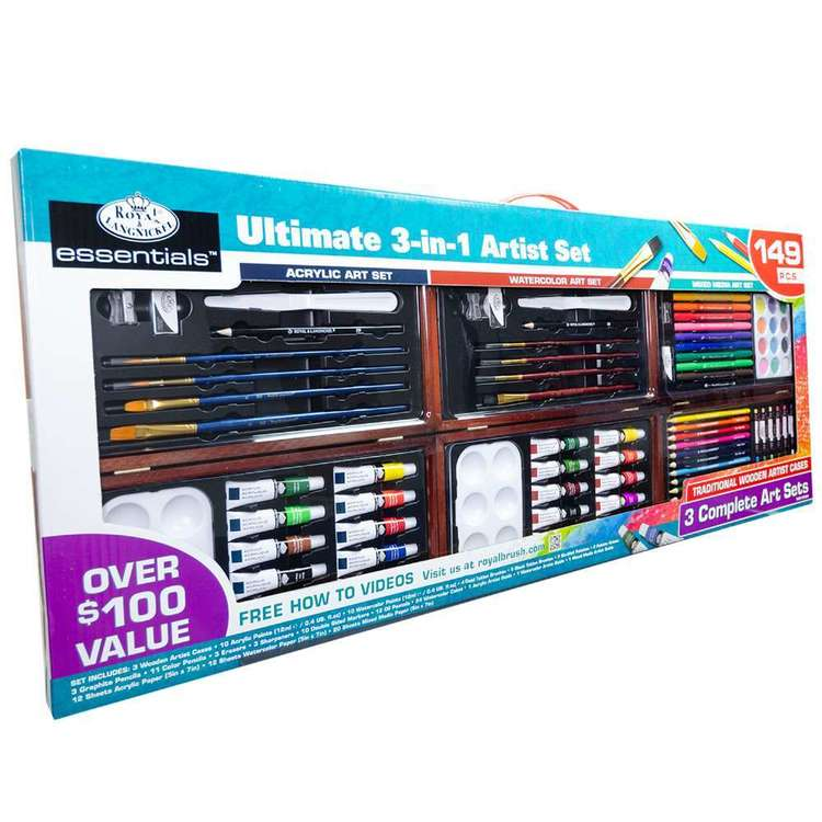 Royal & Langnickel 3-in-1 Art Set Multicoloured