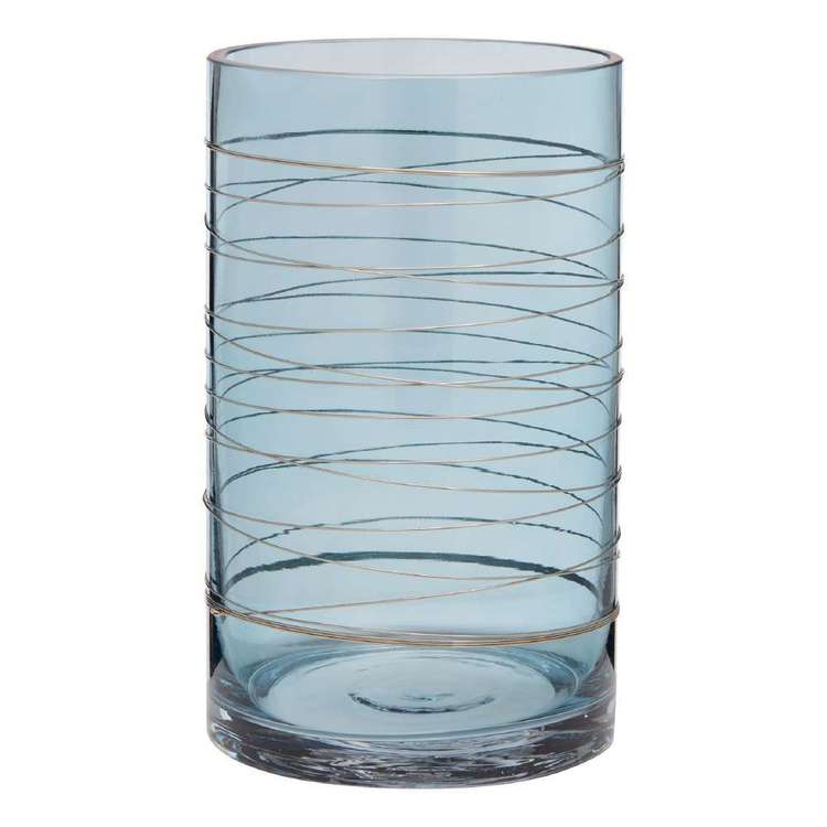 Bouclair Naturalistic Living Glass Vase With Metal Wire