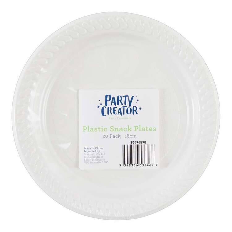 Party Creator Plastic Snack Plates 20 Pack
