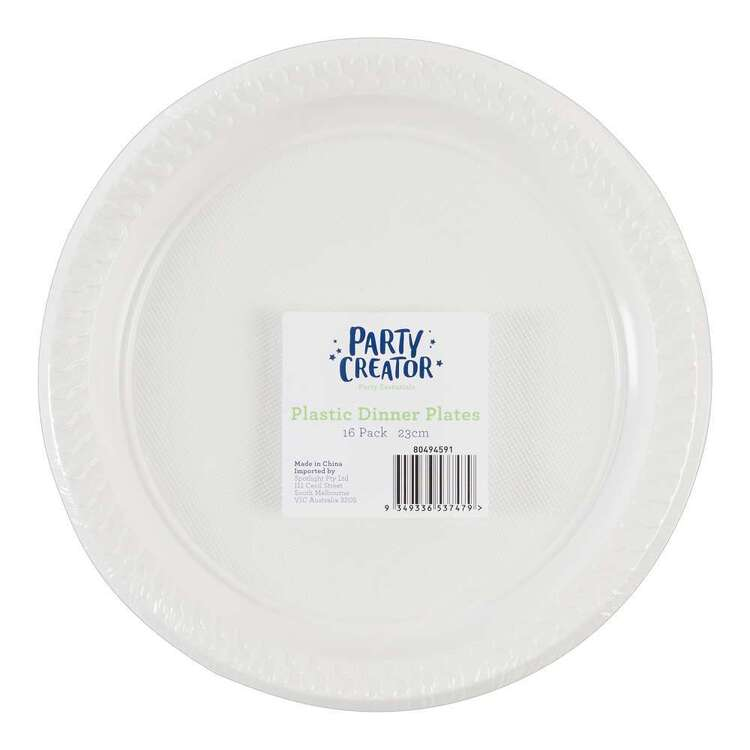 Party Creator Plastic Dinner Plates 16 Pack