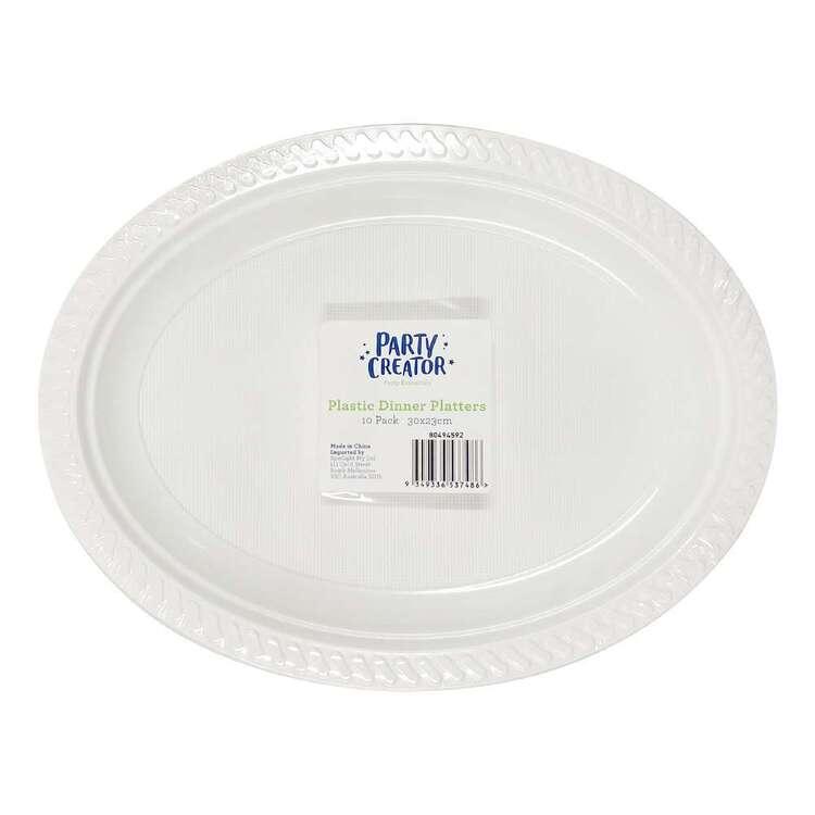 Party Creator Plastic Dinner Platters 10 Pack