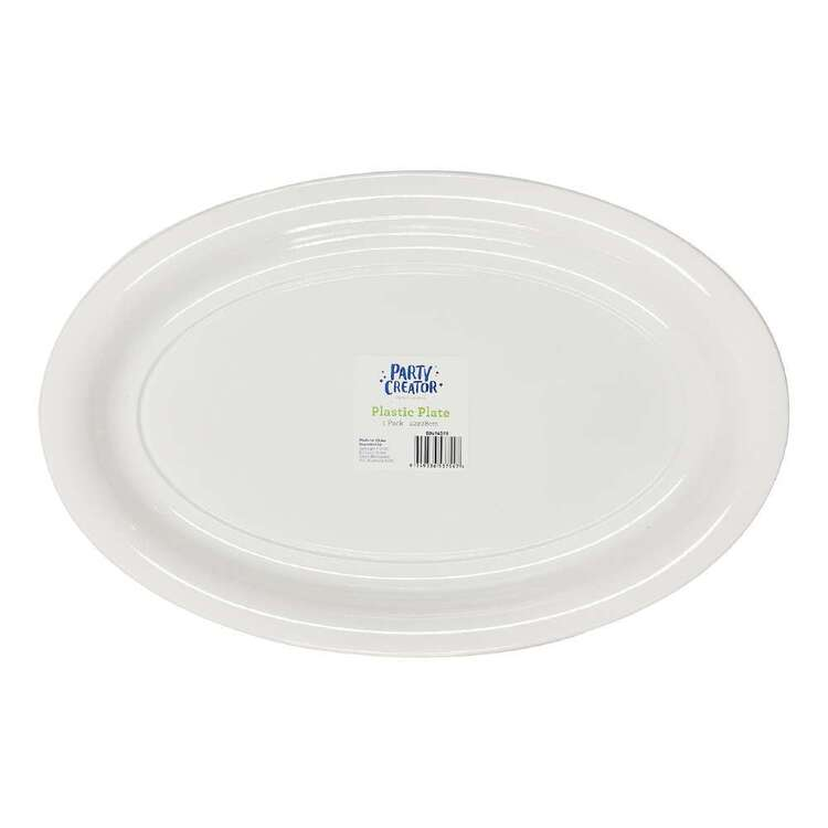 Party Creator Plastic Oval Plate