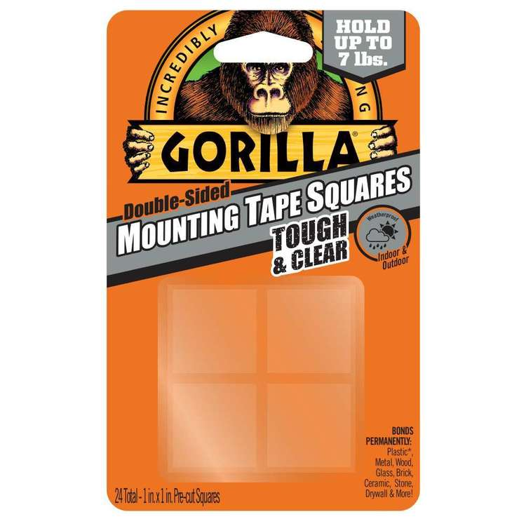 Gorilla Glue Mounting Tape Squares 24 Pack