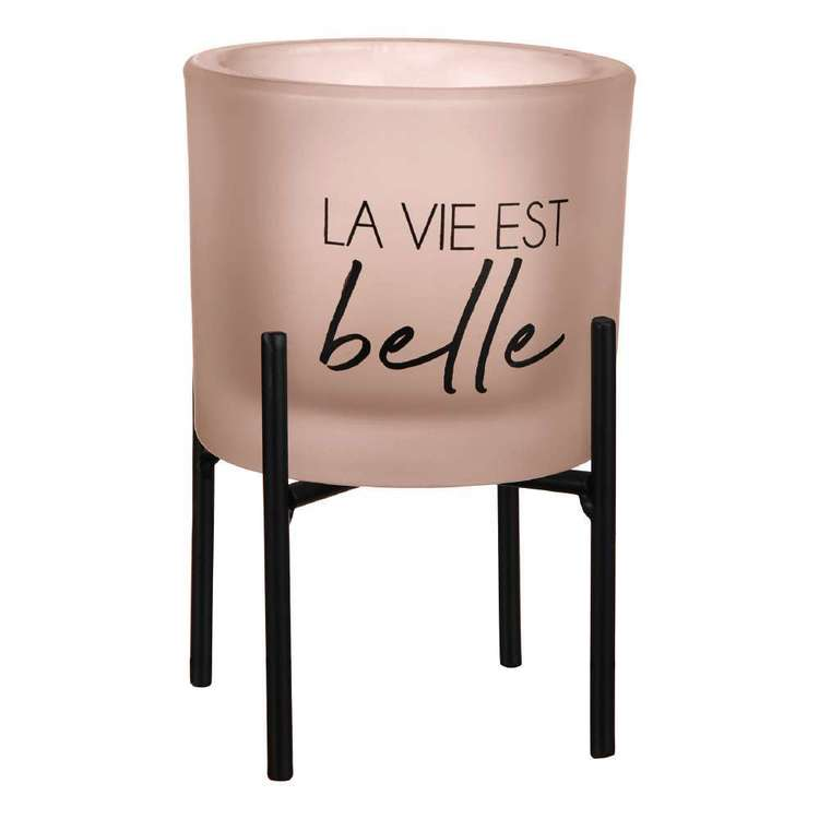Bouclair Purely Pastel Typo Planter Candle