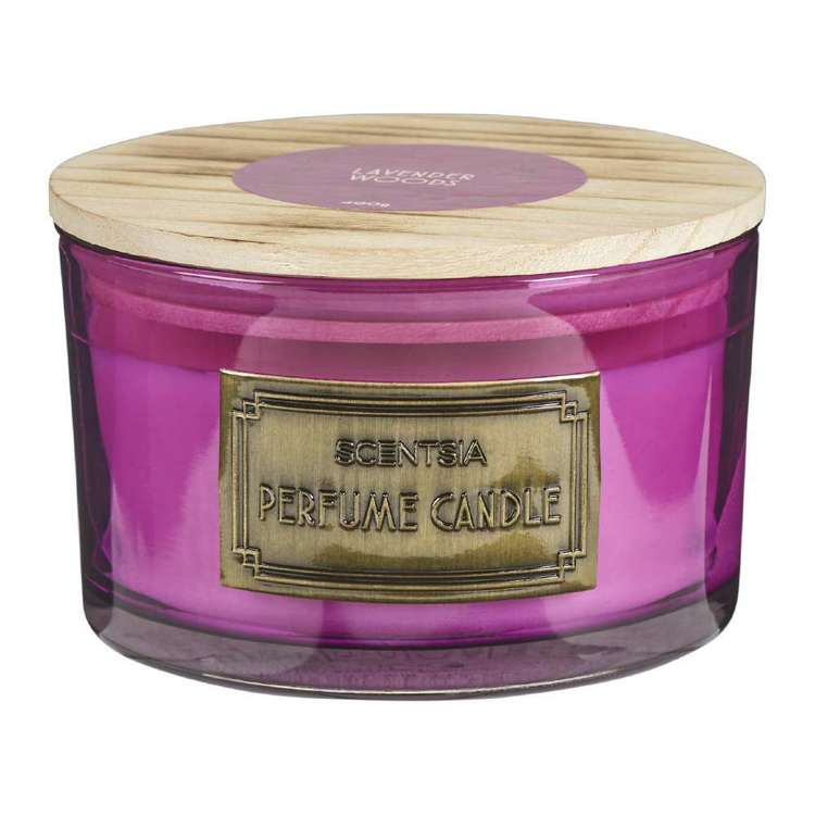 Scentsia Lavender Woods 3 Wick Candle Jar