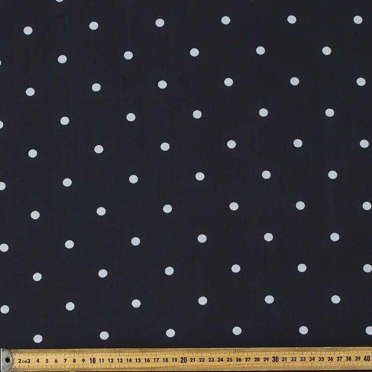 Printed Chiffon Large Dot 148cm Fabric