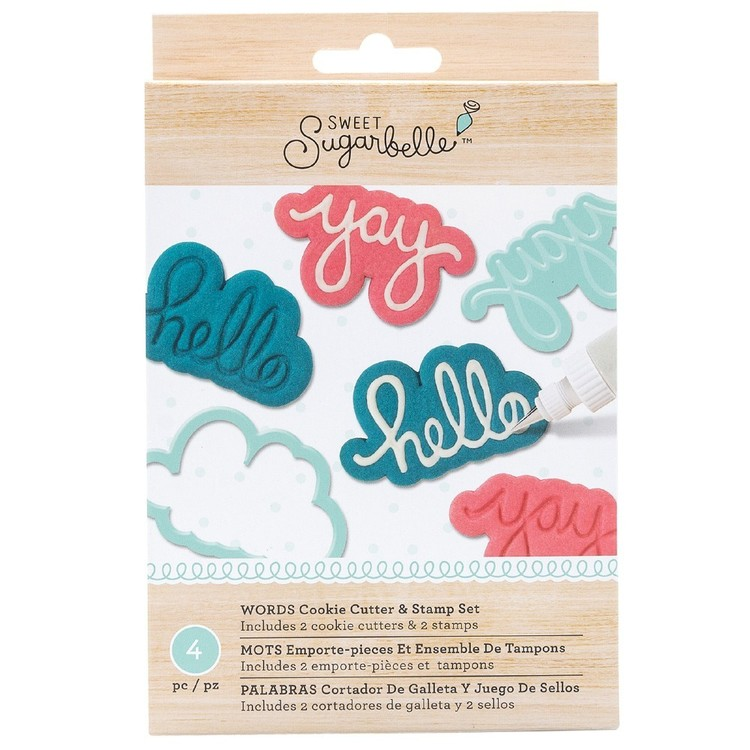 American Crafts Sweet Sugarbelle Words Stamp & Cutter Set