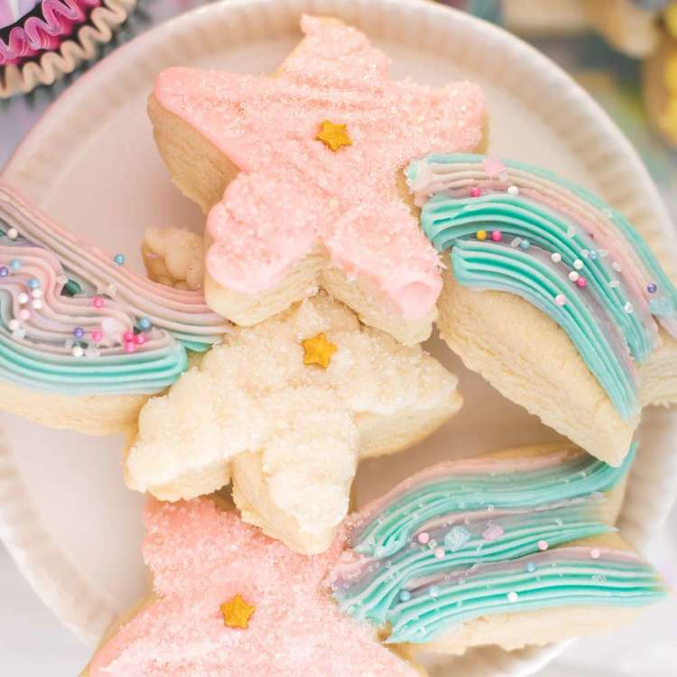 American Crafts Sweet Tooth Fairy Unicorn Cookie Cutter Set Pink