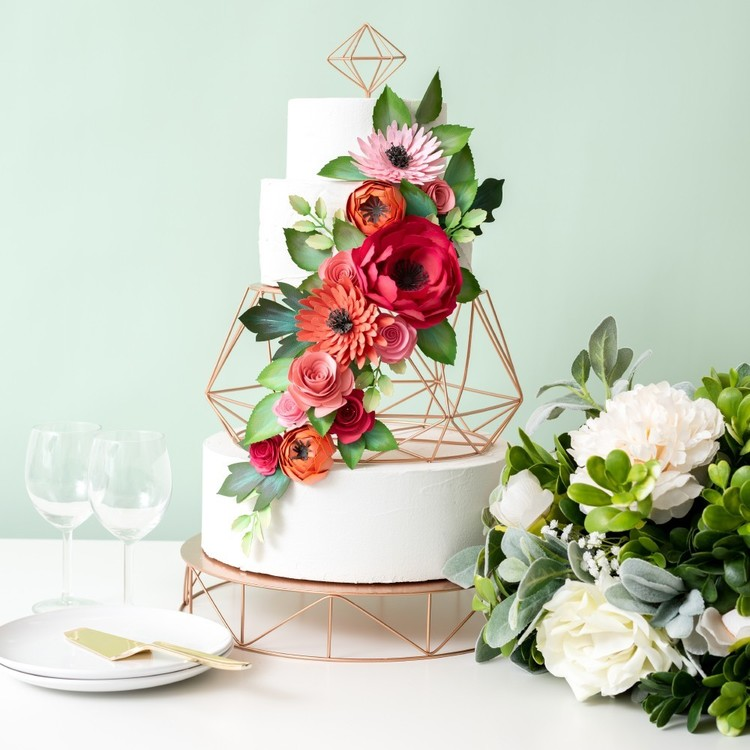 American Crafts Sweet Tooth Fairy Tiered Cake Stand Rose Gold