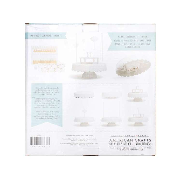 American Crafts Sweet Tooth Fairy Magic Sweet Stand White
