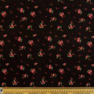 Fallen Rose Printed Rayon Fabric