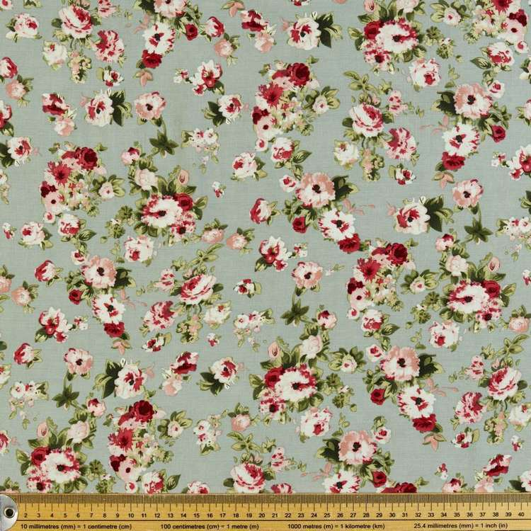 Antique Printed Rayon Fabric