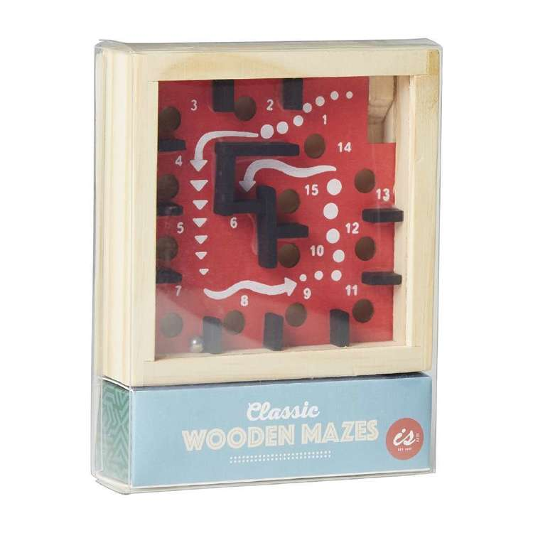 Is Gift Classic Wooden Maze Multicoloured
