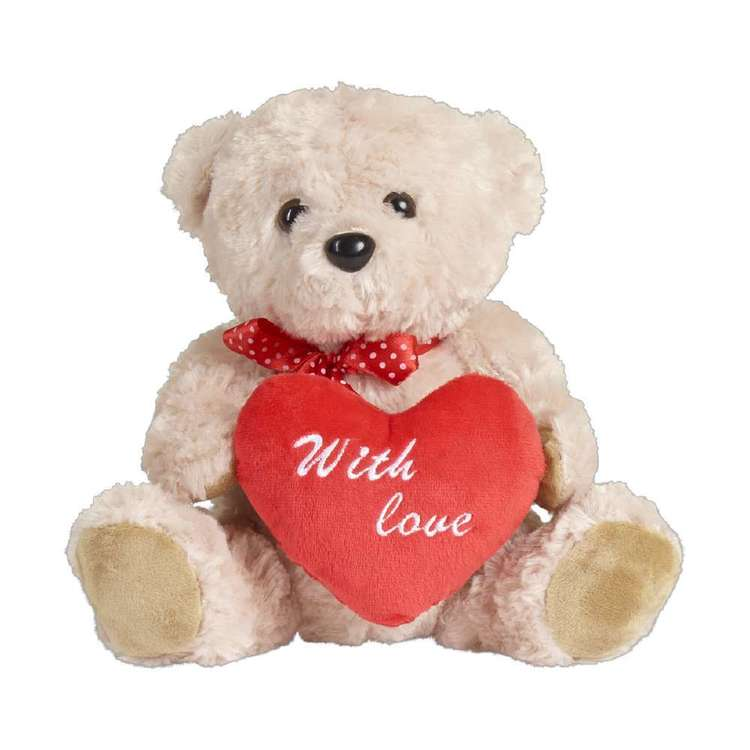 Valentine's Day Plush Bear With Heart Multicoloured