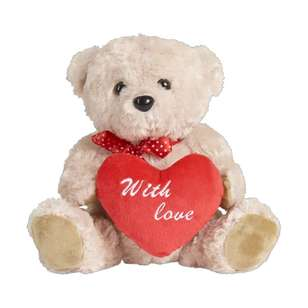 Valentine's Day Plush Bear With Heart