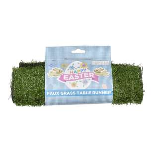 Happy Easter Faux Grass Table Runner