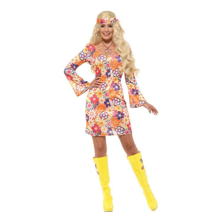 Smiffys Flower Hippie Costume