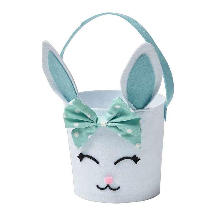 Happy Easter Felt Bunny Bin
