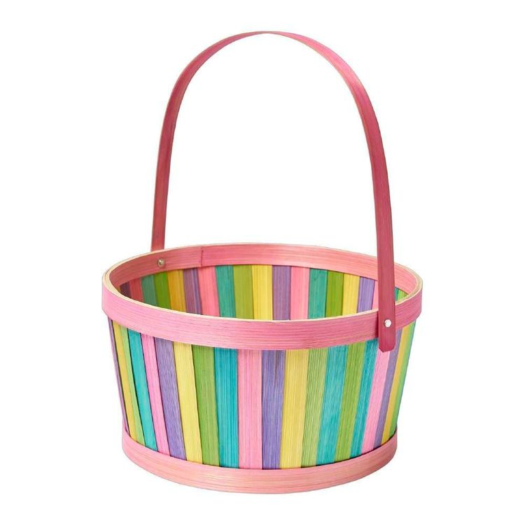 Happy Easter Bamboo Basket