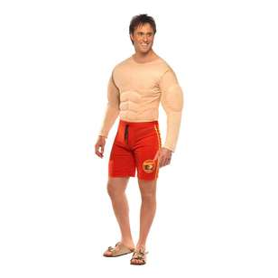 Smiffys Baywatch Muscle Chest Costume