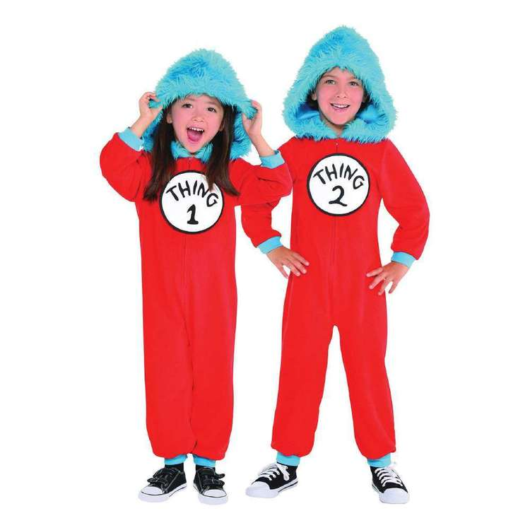 Cat In The Hat Thing 1 & 2 Kids Jumpsuit Costume