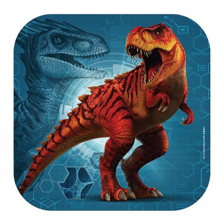 Jurassic World 23 cm Square Plate 8 Pack