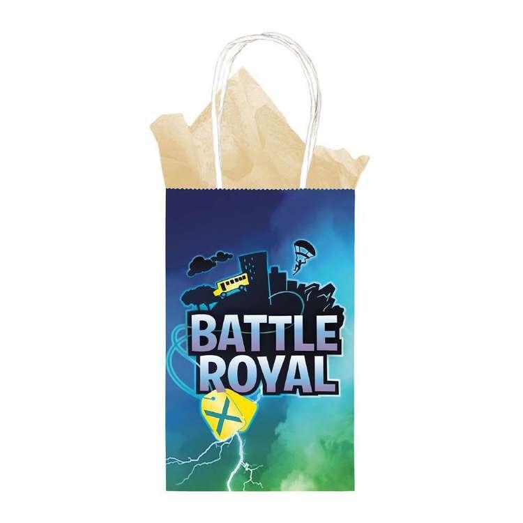 Amscan Battle Royal Printed Paper Kraft Bag 8 Pack