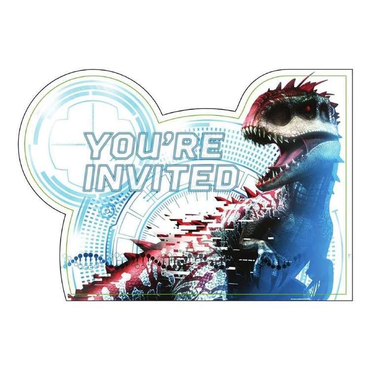 Amscan Jurassic World Postcard Invitations 8 Pack