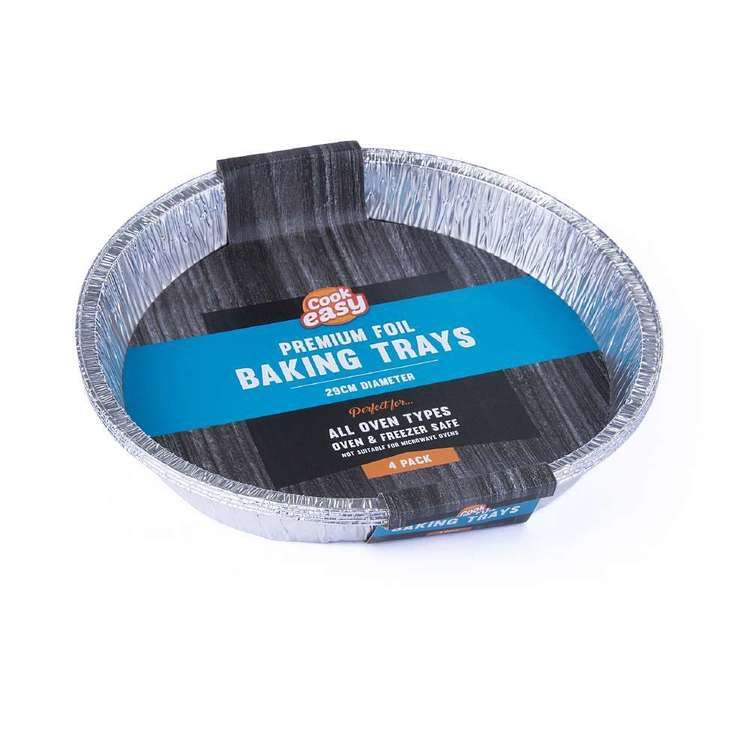 Premium Foil Round Baking Trays 4 Pack
