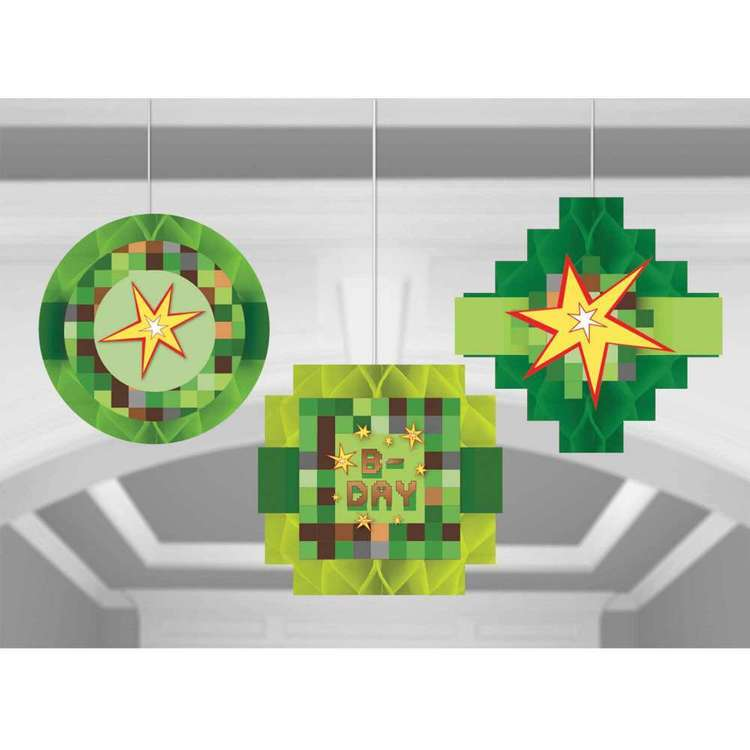 Amscan TNT Party! Honeycomb Hanging Decorations 3 Pack