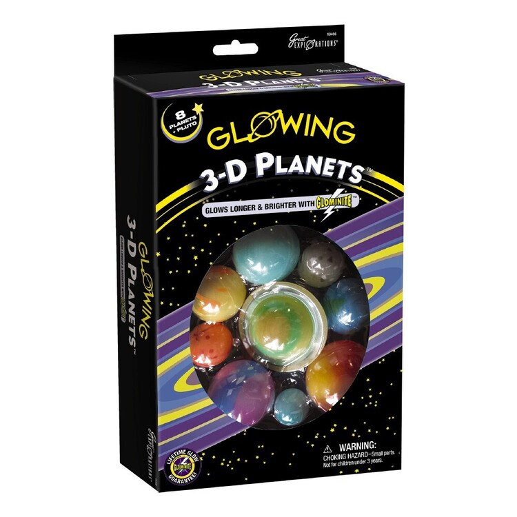 Glowing 3D Planets Boxed Set