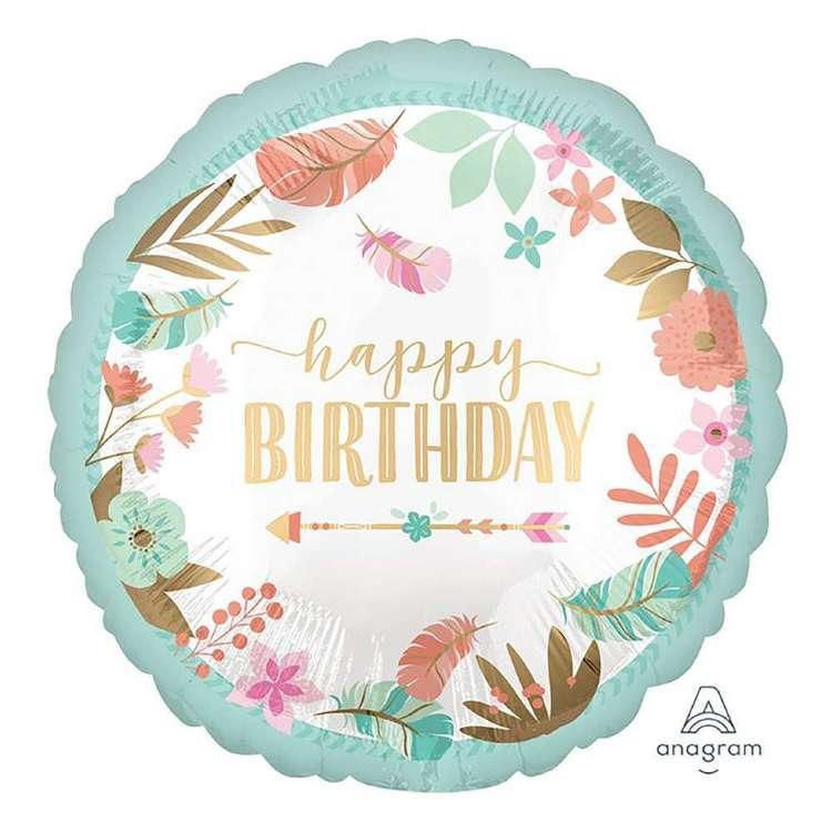 Amscan Boho Birthday Girl Satin Foil Balloon