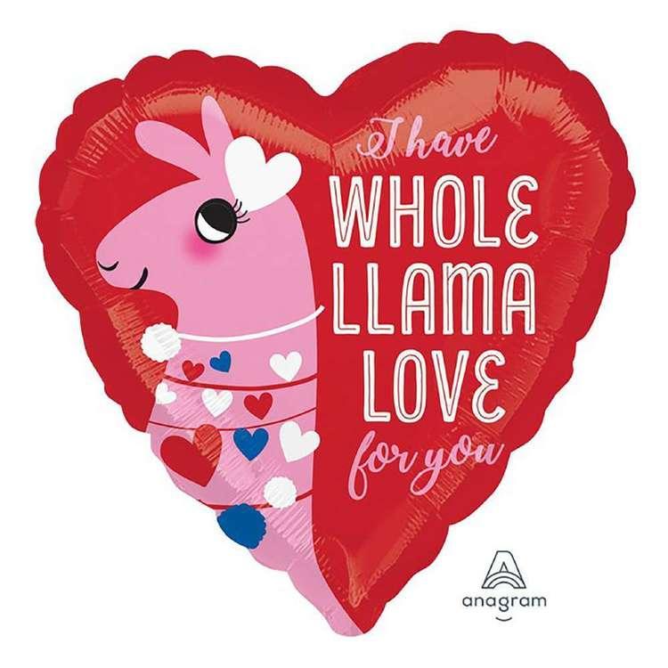 Anagram Llama Love Foil Balloon