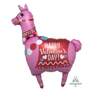 Anagram SuperShape Happy Valentine's Day Llama Foil Balloon