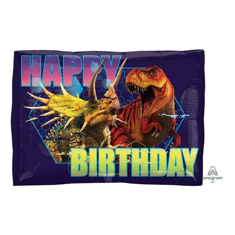 Anagram Junior Shape Jurassic World Happy Birthday Foil Balloon