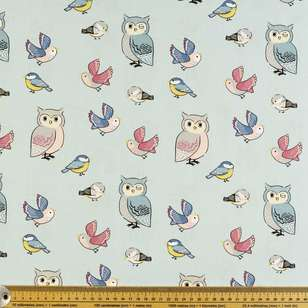 Birdies Printed Poplin Fabric