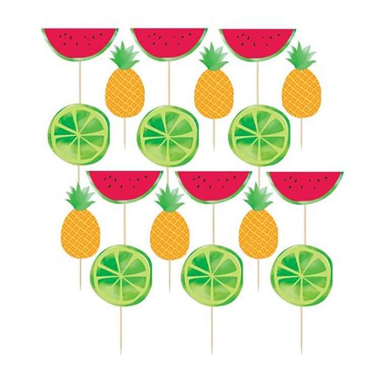 Amscan Fruit Deluxe Picks 24 Pack