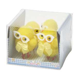 Happy Easter Chick with Glasses 4 Pack