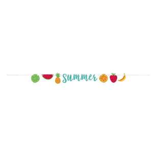 Amscan Summer Fruit Ribbon Glitter Banner