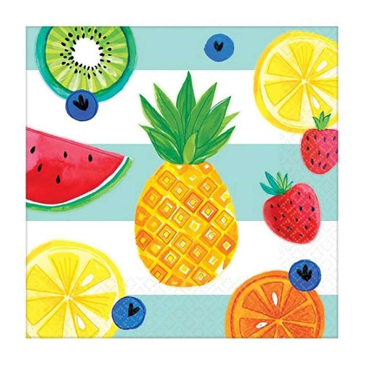 Amscan Hello Summer Lunch Napkin 16 Pack