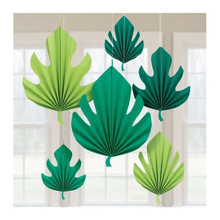 Amscan Palm Leaf Fan Decorations