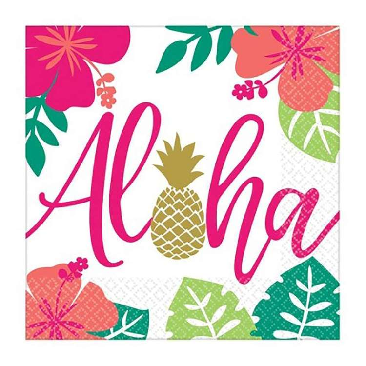 Amscan You Had Me At Aloha Lunch Napkin 16 Pack