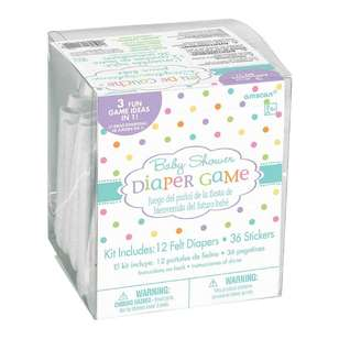 Amscan Baby Shower Diaper Game