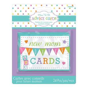 Amscan Baby Shower New Mom Advice Cards